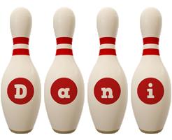 Dani bowling-pin logo