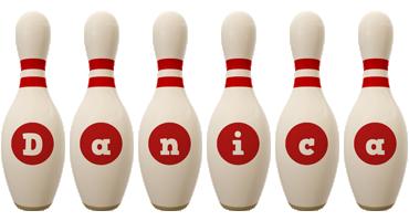 Danica bowling-pin logo