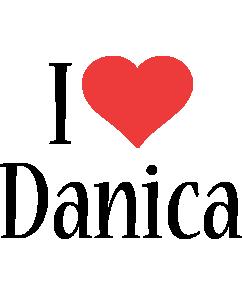 Danica i-love logo