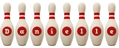 Danielle bowling-pin logo