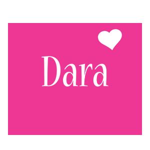Dara love-heart logo