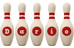 Dario bowling-pin logo