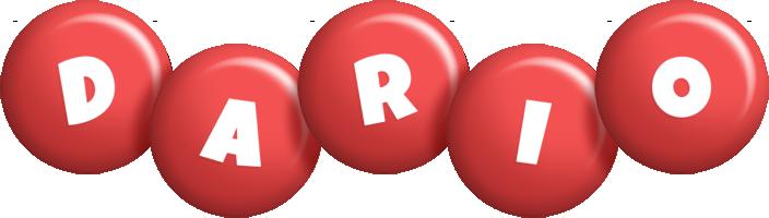 Dario candy-red logo