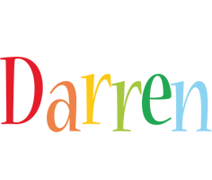Darren birthday logo