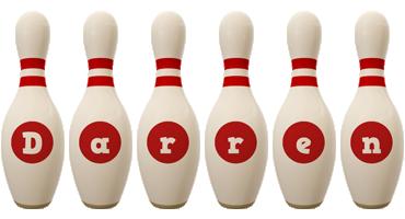 Darren bowling-pin logo