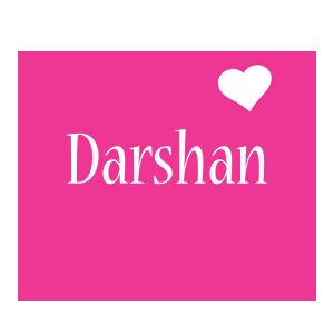 Darshan love-heart logo