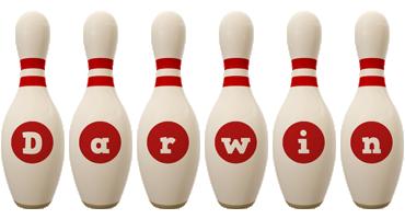 Darwin bowling-pin logo