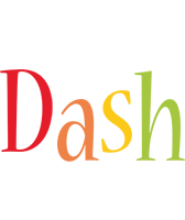 Dash birthday logo