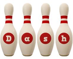 Dash bowling-pin logo