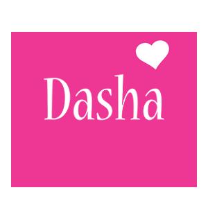 Dasha love-heart logo