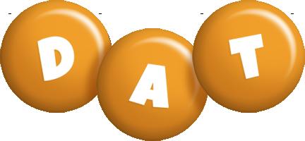 Dat candy-orange logo