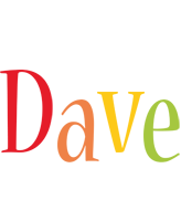 Dave birthday logo