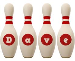Dave bowling-pin logo