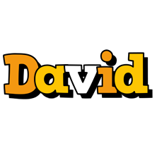 David cartoon logo