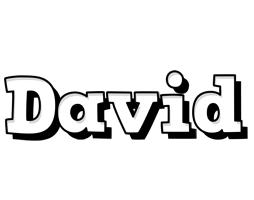 David snowing logo