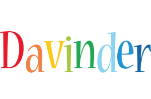 Davinder birthday logo