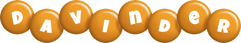 Davinder candy-orange logo