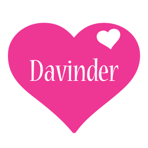 Davinder love-heart logo