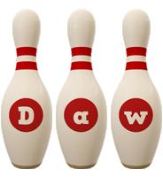 Daw bowling-pin logo