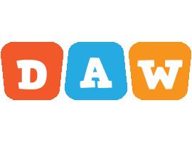 Daw comics logo