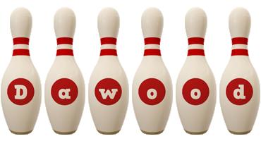 Dawood bowling-pin logo