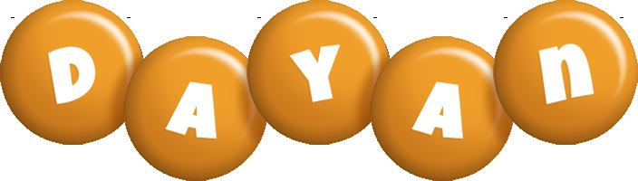Dayan candy-orange logo