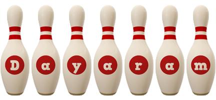Dayaram bowling-pin logo