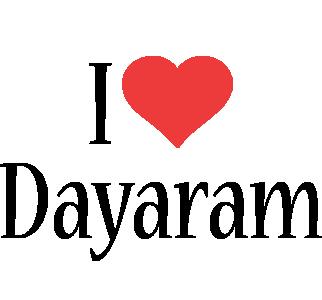 Dayaram i-love logo