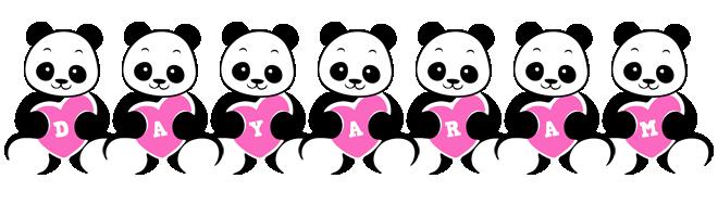 Dayaram love-panda logo