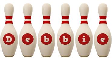 Debbie bowling-pin logo