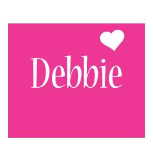 Debbie love-heart logo