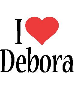 Debora i-love logo