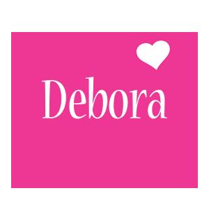 Debora love-heart logo