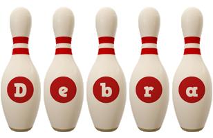 Debra bowling-pin logo