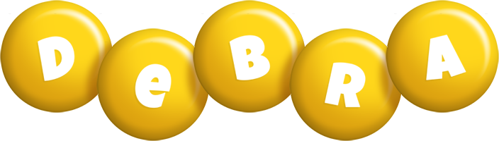 Debra candy-yellow logo