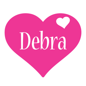 Debra love-heart logo