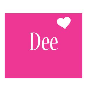 Dee love-heart logo