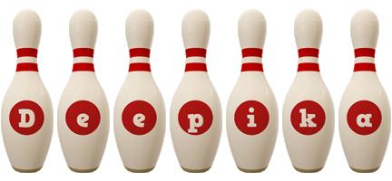 Deepika bowling-pin logo