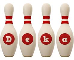 Deka bowling-pin logo
