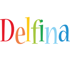 Delfina birthday logo