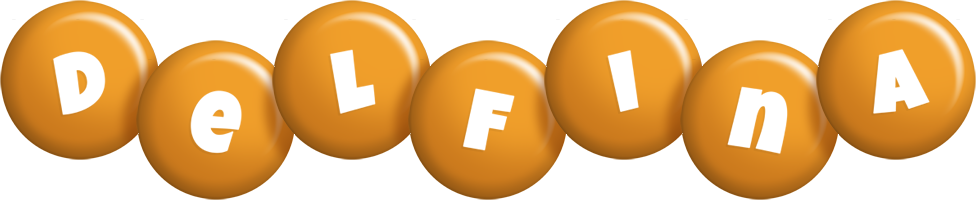 Delfina candy-orange logo
