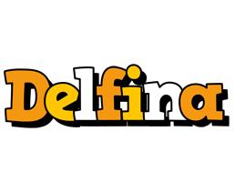 Delfina cartoon logo