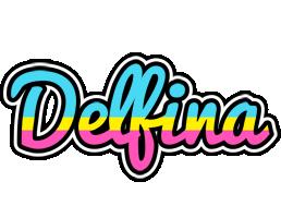 Delfina circus logo