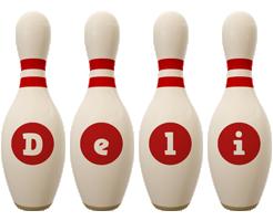 Deli bowling-pin logo