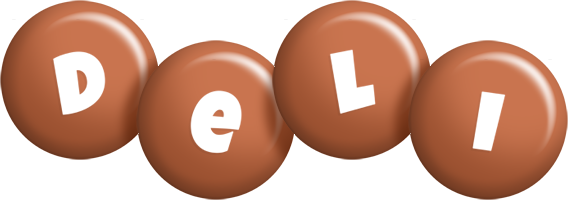 Deli candy-brown logo