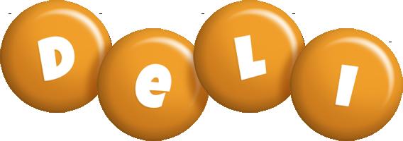Deli candy-orange logo