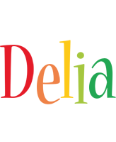 Delia birthday logo