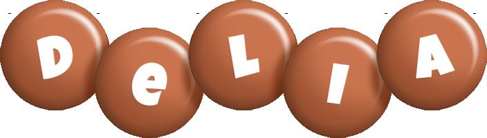 Delia candy-brown logo