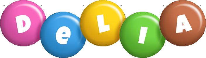 Delia candy logo
