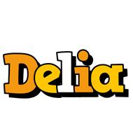 Delia cartoon logo
